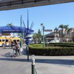 Exiting from Disneyland - Park Vue hotel in distance