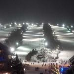 View of night skiing - Tranquility trail