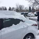 "Here's David helping me dig my car out of 12""+ of fresh snow - thank you so much!!"