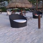 palapas and comfy beach chairs roundabouts dreams riviera cancun resort spa pto morelos