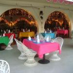 Outdoor tables at Le Vendome Restaurant