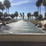 What a view! Hotel fountain and the beach straight ahead