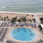 View from room 1708 - oceanfront room overlooking the pool