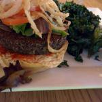 This black quinoa burger with kale chips was to die for - my husband ordered it twice.