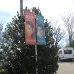 Elvis banners outside