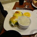 I highly recommend the eggs sardou for breakfast in the Opera Cafe.