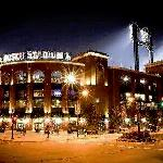 Bush stadium at night. Ball park village and the surrounding areas are great for baseball fans.