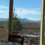 View from the dining room at breakfast