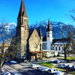 We had a wonderful room overlooking the church and the mountains, with a small balcony, I highly
