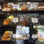 Mouthwatering selection of many delicious desserts