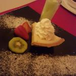 """Key Lime Pie with Tequila Lime Sorbet """"Shot"""""""