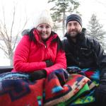 Blankets in the sleigh