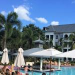 French village pool and swim up bar