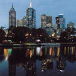 Skyline view from banks of the Yarra - 2 minutes from hotel