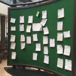The message board at the Thorn Tree Café