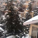 great view with snowfall