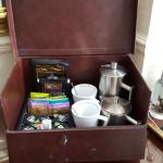 The selection of tea and coffee