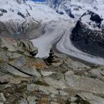 Glaciers visible from the top