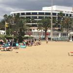 View of hotel from beach