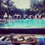 Breakfast poolside at the W South Beach