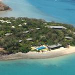 View from helicopter of the resort