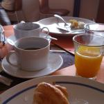 Breakfast like croissant was distastefully cold. Wish that there is a warmer to improve the tast