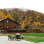 View of Mountain Inn & Fire Pit in Autumn