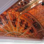 Beautiful Stained Glass above the casino