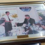 Picture of Bill Clinton dining at Pho 2000