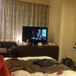 Watching Harry Potter in my room
