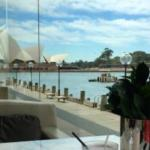 View of Opera House from restaurant