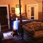 The Gabriel suite (with an Edwardian golf theme) is in the Carriage House of The Campbell House.