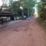 The hotel is situated on a dirt road