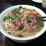 Pho with rare beef