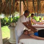 Free massage everyday by the pool