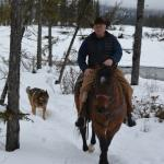 A ride with Al along the bank of the river just before a snow storm.