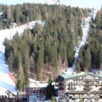 Photo from our hotel balcony of the ski lsopes