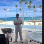 Our concierge Juan on our terrace