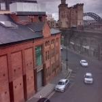 Newcastle castle viewed from the room.