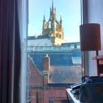 Newcastle cathedral from the room