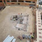 Work on the outdoor pool