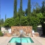 Private jacuzzi available to the spa clients