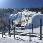 View of the K90 and K120m ski jumps