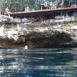 Eden cenote across the street from the resort . only 100pesos to get in.