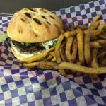 the basic barpa burger and chips. very tasty