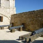 Larnaca Castle - courtyard - medieval cannons
