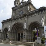 The Manila Cathedral. Front view from the western side.