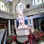 Thomas Jefferson statue in the lobby