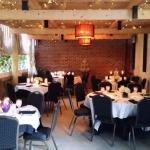 The garden room is available for private parties as well regular dinner seating