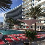 Beautiful, well-maintained pool/patio area. Cabanas are very cool.